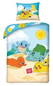 Pokemon Go Pikachu Biancheria Letto Bambini Lenzuola 140/160 X 200 CM