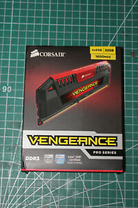 Corsair Vengeance Pro Series 32GB (4 x 8GB) DDR3 DRAM 1600MHz C9 Memory FULL SET
