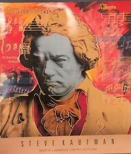 "STEVE KAUFMAN - ""BEETHOVEN IN GOLD""   POSTER    NEW"