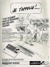 Publicité advertising 1986 France Telecom ... Carte Télécom PTT