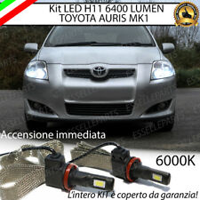 KIT FULL LED TOYOTA AURIS MK1 LAMPADE LED H11 6000K 100% NO ERROR 6400 LM