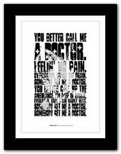 More details for van halen somebody get me a doctor ❤ typography quote poster print #100