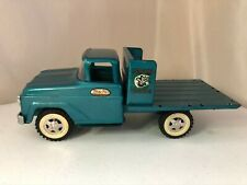 Tonka Farms Stake Flat Bed Pickup Truck Original Blue Green Collectible Toy