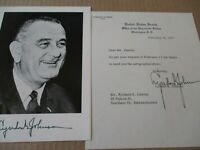 LYNDON B JOHNSON SIGNED AUTOGRAPH LETTER FAMOUS AMERICAN HISTORIC POLITICS IOWA