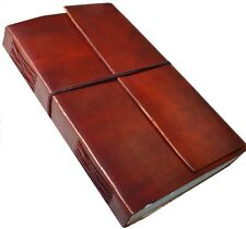 HANDMADE LEATHER CLASSIC BOUND TRAVEL JOURNAL DIARY NOTEBOOK GREAT GIFT
