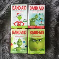 4 Boxes Dr. Seuss The Grinch Band-aids, New