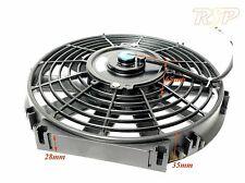 """UNIVERSL 10"""" SLIM Radiatore Elettrico Ventilatore spingere o tirare l'uso su kit o progetti auto"""