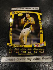 2011 AFL TEAMCOACH BASE CARD RICHMOND NO.94 NATHAN FOLEY