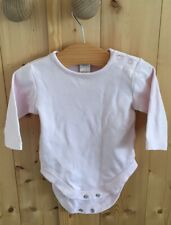 next baby girl Pink Long Sleeved Top Vest Age 0-3 Months