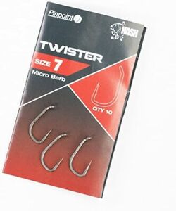 Nash Pinpoint Twister Hooks Barbed