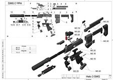 DIY Kit - ODST SMG - Cosplay - Halo 3 - 3d printed