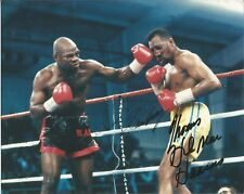 BOXING LEGENDS TOMAS HEARNS IRAN BARKLEY SIGNED 8X10 HIT MAN BLADE MIDDLEWEIGHTS