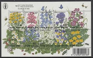 FINLAND :1994 Flowers sheetlet SG1357-66 MNH
