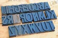 A-Z Alphabet 90 mm Holzbuchstaben letterpress wood letter tipografía caratteri