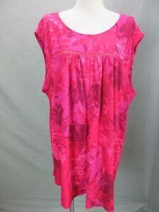 NWT Lucky Brand Size 3X Womens Pink Sleeveless Linen Loose Top Shirt T765