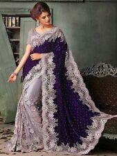 Indian Bollywood Saree Ethnic Pakistani Designer Sari Wedding Party Wear -R120