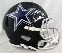 Jason Witten Signed Dallas Cowboys F/S Flat Black Helmet- Beckett Auth *Silver