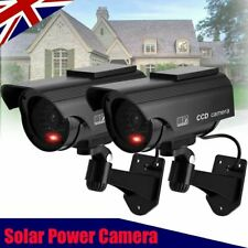 More details for 2x solar power dummy fake security red led cctv ccd camera surveillance varities