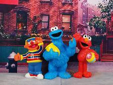 Sesame Street Muppets Cookie Monster Elmo Ernie Cake Topper Figure Model ABJ