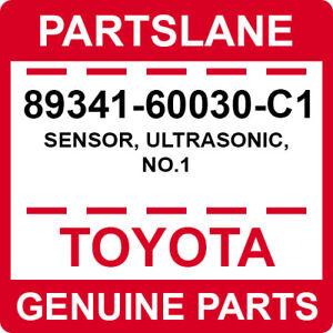89341-60030-C1 Toyota OEM Genuine SENSOR, ULTRASONIC, NO.1
