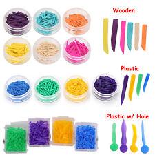 100pcs Dental Wedges Plastic Wooden Teeth Diastema Wedges Disposable Material