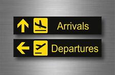 Autocollant sticker aeroport arrivee depart avion vol  airport arrival departure
