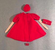 "Vintage Barbie ""Red Flare"" #939 (1962-65) Complete Coat Hat Gloves Mules Purse"
