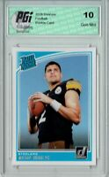 Mason Rudolph 2018 Donruss Football #305 Rated Rookie Card PGI 10