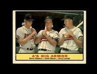1961 Topps Baseball #119 A's Big Armor (Siebern Bauer Lumpe) EXMT