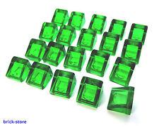 LEGO nr- 54200/1x1 2/3 tejas Verde transperant / 20 Pieza