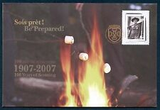100 YEARS OF SCOUTING SPECIAL EVENT COVER ON CANADA 2007 Sp. Cat. S74