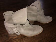 UGG Australia Women's Elora Sahara Gray Suede Ankle Boots Booties Size 9.5