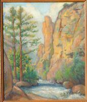 Charles Svendsen, b.1871 Cincinnati artist, oil/board 24 x 20