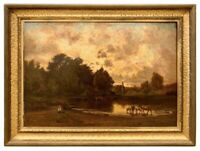 Original Hector Charles Auguste Octave Constance Hanoteau Oil Painting