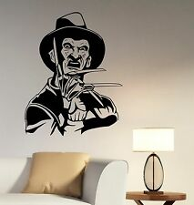 Freddy Krueger Decal Vinyl Wall Sticker Movie Art Room Bedroom Horror Decor krg1