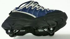 Skating Rage Rollershoes Youth sz 7 Sturdy, Black,Blue & Tan, Wheels in Soles
