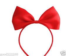 New Disney Princess Snow White Costume Girls Hair Band Headband Ribbon Big Bow
