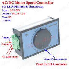 AC 220V DC3V-12V 5V 6V 9V 2A PWM DC Motor Speed Controller LED Dimmer Thermostat