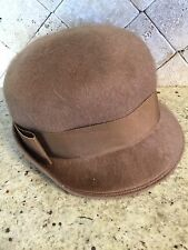 Vintage Light Brown/Tan Mohair and Wool Hat by Mahara - 21 3/8""