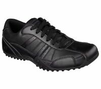 77038 Skechers Men's Work Shoes ELSTON Slip Resistant Relaxed Fit Black BLK