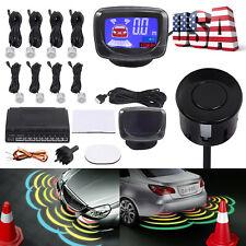 NEW 8 Parking Sensors LCD Car Reverse Rear Radar Buzzer System Alert Alarm Kit