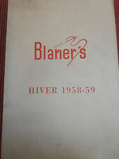 catalogue de mode masculine Blaner's hiver 1958  (ref 21 )
