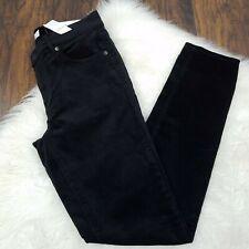 LOFT Size 4 / 27 Jeans Modern Skinny Black Velvet Pants NWT