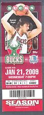 Milwaukee Bucks vs Dallas Mavericks January 21 2009 Ticket Stub Andrew Bogut pic