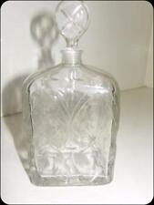 Antique French Crystal Glass Heavy Lidded Bottle - Made in France  C.1905