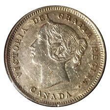 1901 Canada 5 Cents .925 Silver Coin Queen Victoria