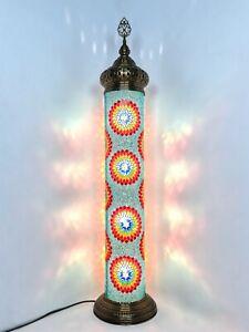 Turkish mosaic, Cylinder floor lamp, Colorful night lamp