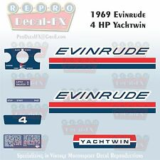 1969 Evinrude 4HP Yachtwin Outboard Reproduction 10Pc Marine Vinyl Decal 4936