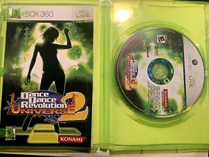 Dance Dance Revolution: Universe 2 (Microsoft Xbox 360, 2007) COMPLETE!