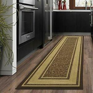 """Ottomanson Runner Rug, 2'7"""" x 9'10"""", Chocolate Brown  Assorted Colors , Sizes"""